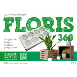 LED-Pflanzenlampe Floris 360